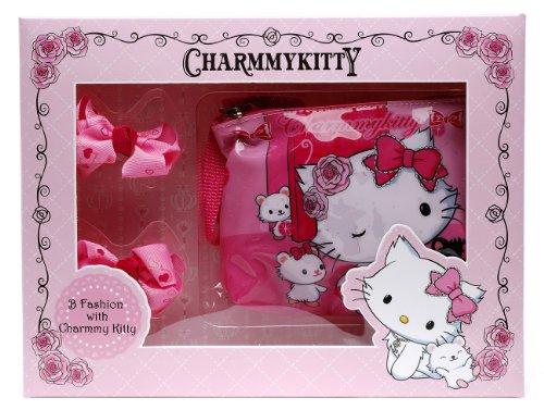 Charmmy Kitty–Set Umhängetasche und Ringe y85165