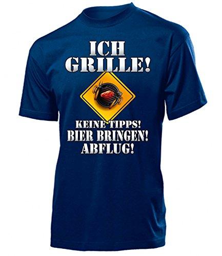 BBQ - ICH GRILLE - KEINE TIPPS - BIER BRINGEN - ABFLUG 4647(H-N) Gr. L
