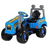 Kindertraktor 95cm Trettraktor Tretauto Tretfahrzeug Fahrzeug Spielzeug Kinder (blau)