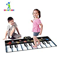 WISHTIME Keyboard Dance Mats Musical Instrument Kids Giant Electronic Piano Music Party Games Playmat Educational Toy Instrument For Toddlers