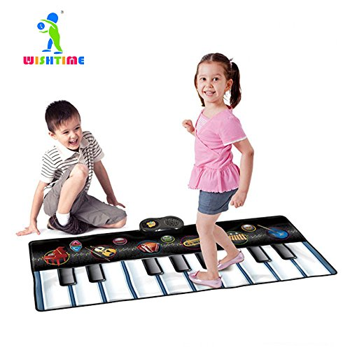 WISHTIME Keyboard Dance Mats Musical Instrument SL15001 Kids Giant Electronic Piano Music Party Games Playmat Educational Toy Instrument For Toddlers