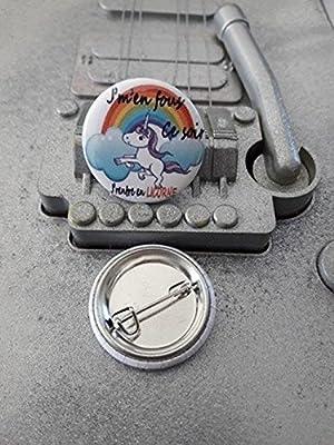 Badge Ø25mm Licorne