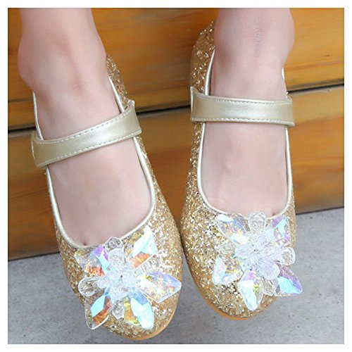 Amur Leopard Ballerine Bling Fille Chaussure à talons chaussure princesse spectacle diamant Or