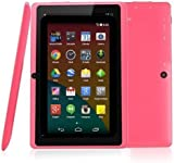 """BTC Flame UK Quad Core 7"""" Tablet PC (8GB HDD, Google Android KitKat, HDMI, WIFI, USB, Bluetooth, res:1024x600) - Pink"""