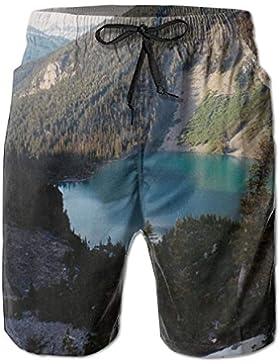 Funny Caps Upper Joffre Lake Slalok Mountain Men's/Boys Casual Quick-Drying Bath Suits Elastic Waist Beach Pants...
