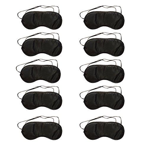 Fablcrew 10 Stück Schlafmasken Schlafbrille, atmungsaktive Schutzbrille, Schutz beim Mittagessen für Damen und Herren, Schwarz -