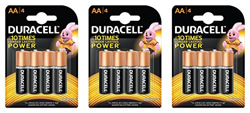 Duracell Alkaline Camera Battery AA with Duralock Technology (12 Pieces)