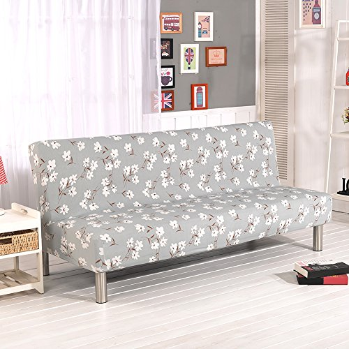 Copridivani con stampe floreali per divani/divani letti senza braccioli, in tessuto elasticizzato di poliestere g
