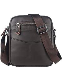 Leathario bolso bolsa bandolera de cuero piel para hombres de estilo retro para diario y trabajo