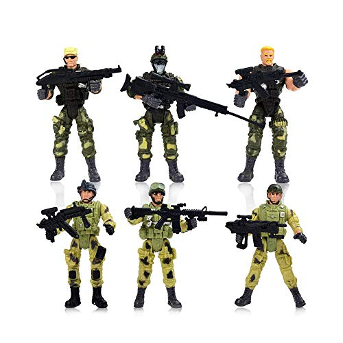 Action & Toy Figures 500pcs 4cm Sandbox Military Soldier Equipment Action Figure Toy Truck Tank Airplane Military Base Training Men Boys Toys Gift