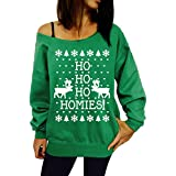 Rrimin Christmas Special Unisex Shirt Pullover Sport Casual Green 2XL