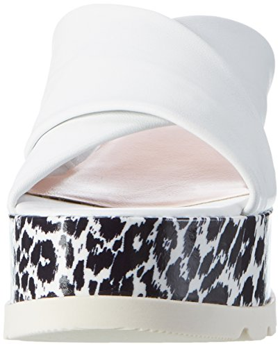 MARC CAIN GB SQ.02 L42, Mules Femme Weiß (White And Black)