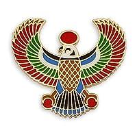 دبوس التلبيب من Pinsanity Egyptian Horus Falcon Enamel