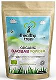Polvere di Baobab BIOLOGICO | Polvere Premium di Qualitò Baobab Superfrutta | Alto in Fibre e ricco di Vitamina C | Involucro da 250g | Polvere di Baobab della TheHealthyTree Company