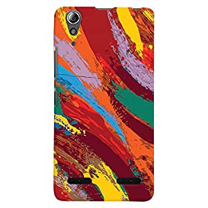 ColourCrust Lenovo A6000 Mobile Phone Back Cover With Colourful Pattern Style - Durable Matte Finish Hard Plastic Slim Case