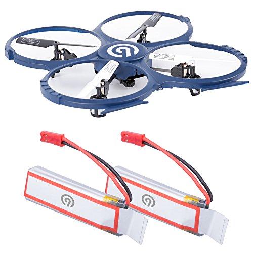 2x Original NINETEC 500mAh Ersatz Akku Batterie für Spaceship9 HD Video Kamera RC Drohne