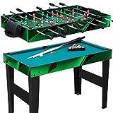 Anaterra Spieletisch 10 in 1, Kickertisch, Billard, Tischtennis, Hockey - Multispieletisch inkl. umfangreichem Zubehör
