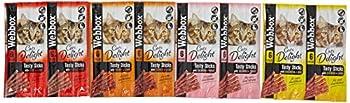 Webbox Chats Délice Gourmet Bâtonnets à Mâcher Friandise Variété Pack 12 X 6 (72 Bâtonnets)