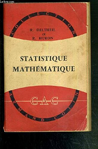 STATISTIQUE MATHEMATIQUE / COLLECTION ARMAND COLIN N°336.