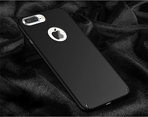 "WOW Imagine(TM) All Sides Protection ""360 Degree"" Sleek Rubberised Matte Hard Case Back Cover For Apple iPhone 7 Plus – Pitch Black"