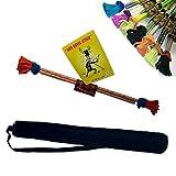 Lunastix Master / Flowerstick Set: Handstäbe, Trick-Lern Fibel + Schulter-Tasche / Farbauswahl per Zufall
