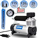 #5: AllExtreme AE-8300 Destorm Air Compressor Pump Tire Inflator 12v Electric Heavy Duty Tyre Inflator Air Compressor with Extension Air Hose for Cars and Bikes / SUVs / Trucks / Vans
