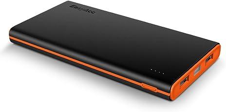 EasyAcc Powerbank 10000mAh Externer Akku dünn und Leicht Portable Smart Ladegerät für iPhone, Samsung und Weitere