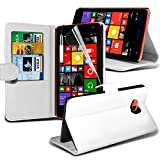 (Weiß) Microsoft Lumia 535 Hülle Abdeckung Cover Case