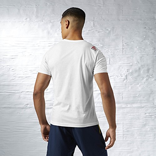 Reebok Herren Exploding Delta/Challenge Brings Change Tee T-Shirt White