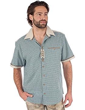 orbis Textil OS-Trachten Trachtenhemd 921004-0749 Halbarm Grün
