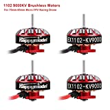 4pcs 1102 9000KV Motores sin escobillas 2S-3S EX1102 Micro Drone Motor...
