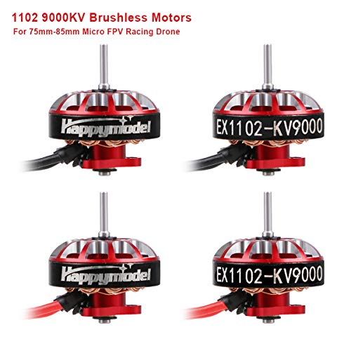 4 stücke 1102 9000KV Brushless Motoren 2S-3S EX1102 Micro Drone Motor für FPV Racing Tiny Whoop 66mm Ductless Rahmen 75mm-85mm Micro FPV Racing Drohne wie Mobula7 HD