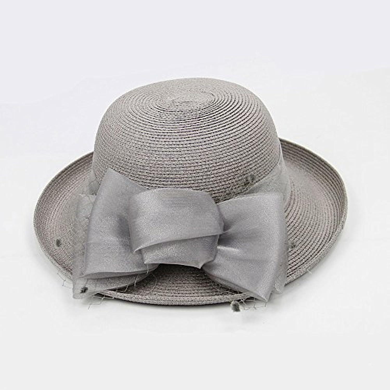 GAOQQ Cappello di Viaggio della Spiaggia del Cappello del Tessuto Estate di  Paglia Femminile di Estate 43ace5849b62