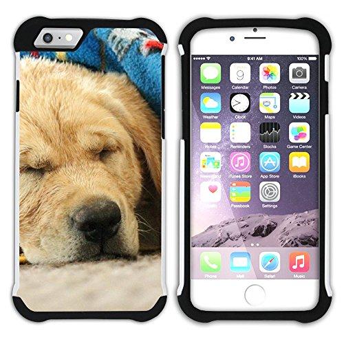 Graphic4You Labradorhund Labrador Retriever Hund Hündchen Tier Hart + Weiche Kratzfeste Hülle Case Schale Tasche Schutzhülle für Apple iPhone 6 Plus / 6S Plus Design #18