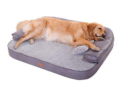 Pls Birdsong Liege Sofa, Feste Orthopädische Hundebett, Schaumstoff Hundebett, Abnehmbarer, Waschbeständiger Bezug, Extra Large 47x35x5, braun (Schaumstoff Einsätze Für Sofas)