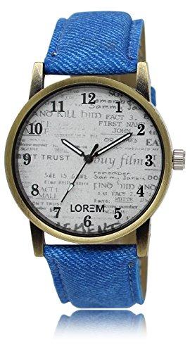 Vastrang Analog Grey Dial Men's Watch(LR28_Blue_Boys)
