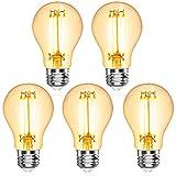 Befurglor E27 LED Filament Lampe, 6W Ersetzt 60W Glühlampe, 750LM, 2700K Warmweiß, Classic Klar Lampen, Nicht Dimmbar, 5er Pack