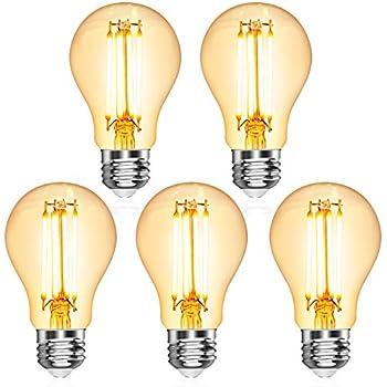 5er-Pack Warmwei/ß 2700K Filamentstil Klar Nicht Dimmbar Ersetzt 60W Ascher E27 LED Classic Lampe 800lm