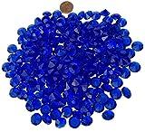 200 Stück 11mm glitzernde blau dunkelblau Deko Diamanten Brillianten Strasssteine Acrylsteine transparent klar kristall basteln Gltzersteine Schmucksteine Strass Steine Dekorieren von CRYSTAL KING