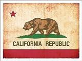 Posterlounge Alu Dibond 130 x 100 cm: Flag of California (USA) di Christian Müringer Illustration Art