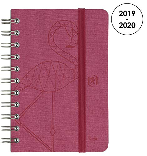 OXFORD 100738377 So Chic Agenda Scolaire journalier 2019-2020 1 Jour par Page 352 pages 12x18 Rose par  OXFORD