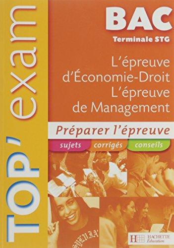 L'épreuve d'Economie-Droit, L'épreuve de Management Te STG