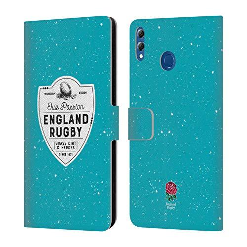 Head Case Designs Offizielle England Rugby Union Grass Dirt and Heroes 2017/18 Erbschaft Brieftasche Handyhülle aus Leder für Huawei Honor 8X Max