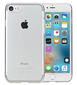 Plus Soft Silicone TPU Back Case for Apple iPhone 7(Transparent)