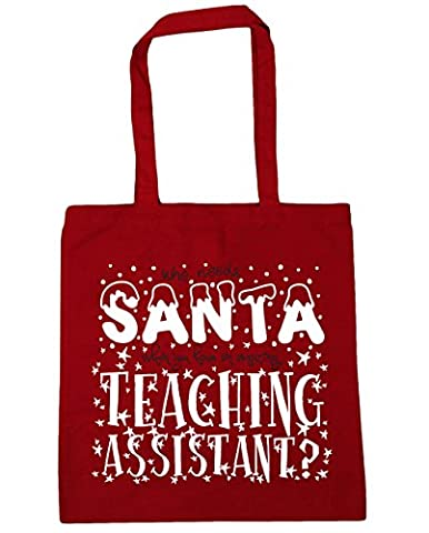 HippoWarehouse Who Needs Santa When You Have an Amazing Teaching Assistant Tote Shopping Gym Beach Bag 42cm x38cm, 10 litres