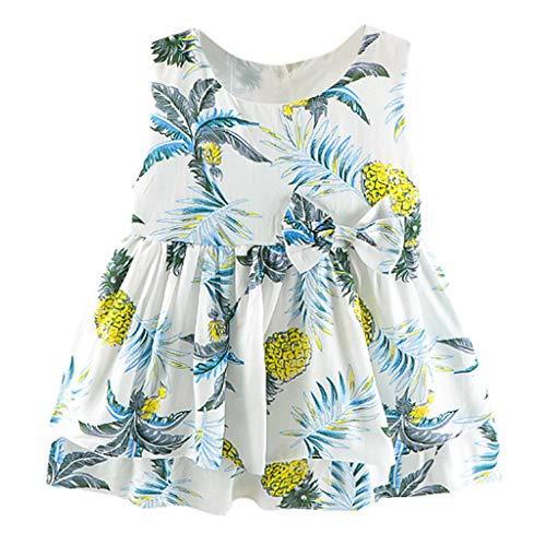 MäDchen Kleider Sommer Festliche Kleidung Kleinkind Kinder Baby Denim Patchwork Floral Princess Rock äRmellos Stitch Print Dress Party Kleid Hochzeit -