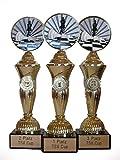 RaRu Schach-Pokale (3er-Serie) mit Ihrer Wunschgravur