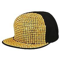 95d7d76b3e1 Merchant eShop Golden Hip Hop New stylish Fancy Funky Nail Men s Boys Cap  Image