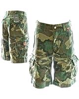 Beach Bumpers Mens Cargo Shorts - 100% Cotton, Premium Quality Outdoor Multi-purpose Combat Shorts