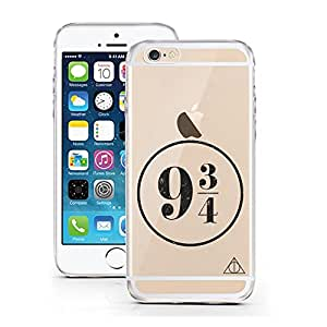iPhone 6S Hülle von licaso® für das Apple iPhone 6 & 6S aus TPU Silikon 9 3/4 Harry Potter Hogwarts Kings Cross Muster ultra-dünn schützt Dein iPhone & ist stylisch Schutzhülle Bumper Geschenk (iPhone 6 6S, 9 3/4 Harry Potter)